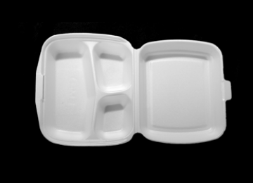 Foam Meal Container 3 Compartments