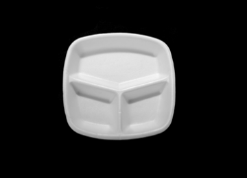 Foam Meal Tray 3 Compartments