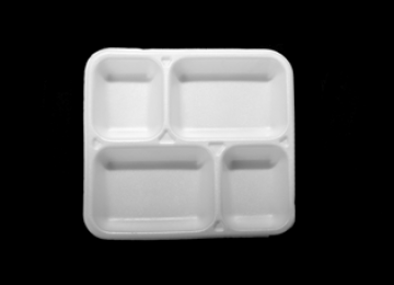Foam Meal Tray 4 Compartments