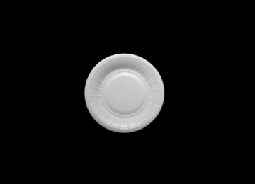 Round Foam Plate 17 cm