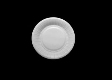 Round Foam Plate 22 cm
